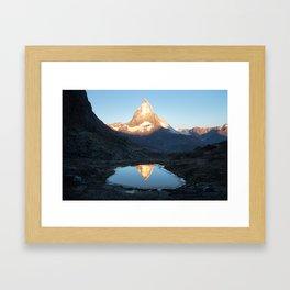 Matterhorn Sunrise Framed Art Print