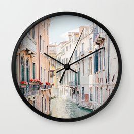 Venice Morning - Italy Travel Photography Wall Clock