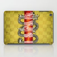 mandie manzano iPad Cases featuring The Dragon by Diogo Verissimo