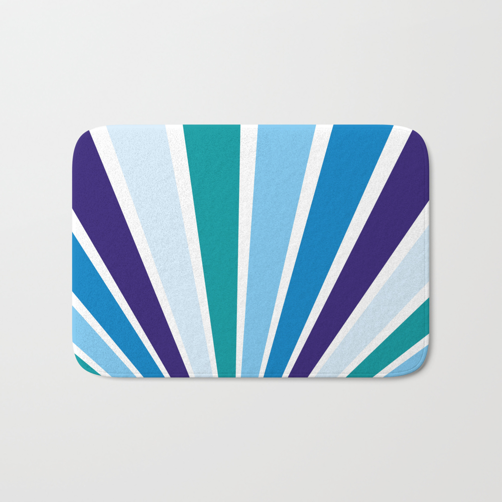 Blue Rays Bath Mat by Artiseverything BMT7870746