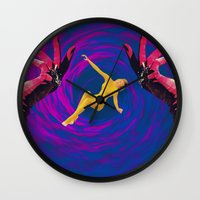 thrones Wall Clocks featuring Diamond Flash by Laura Nadeszhda