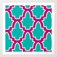 moroccan Art Prints featuring Moroccan by Farah Saheb