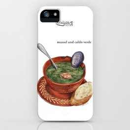 La Cuisine Fusion - Mussels with Caldo Verde iPhone Case