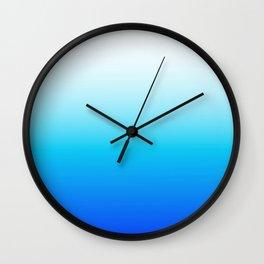 Beachy Blues Wall Clock