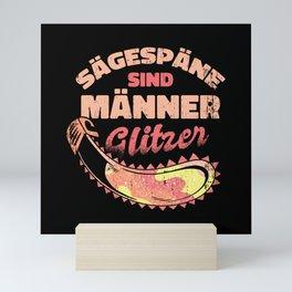Sawdust Is Men's Glitter Mini Art Print
