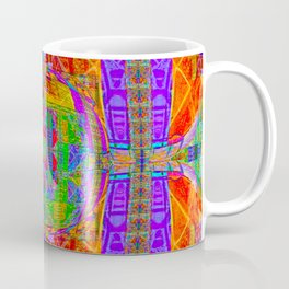 Geometric Futuristic Quilt 1: Space Cape Coffee Mug