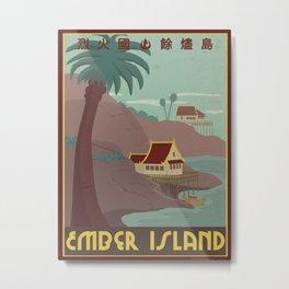 Ember Island Travel Poster Metal Print