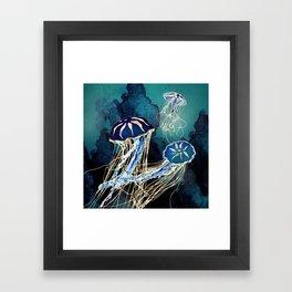 Metallic Jellyfish III Framed Art Print
