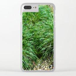 Decorative Grass Clear iPhone Case