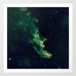 1259. 'Witch Head' Brews Baby Stars Art Print