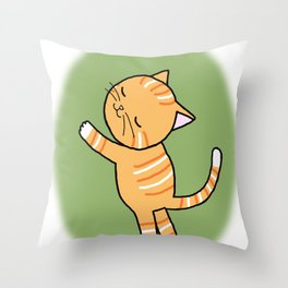 Orange Tabby Cat I like you Throw Pillow
