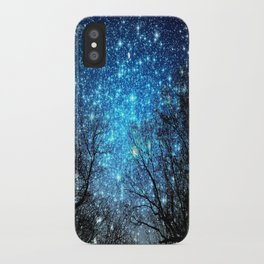 Black Trees Blue SPACE iPhone Case