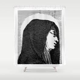 Vintage Illustration, A Saint Shower Curtain