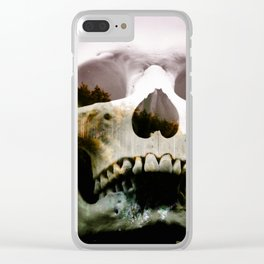 Horror in the woods Clear iPhone Case