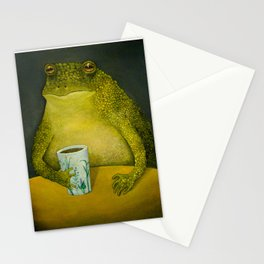 Toad's morning cup Stationery Cards