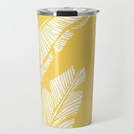 Banana Leaves on Yellow #society6 #decor #buyart Travel Mug