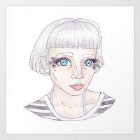 sasha grey Art Prints featuring Sasha by Eli Beristain