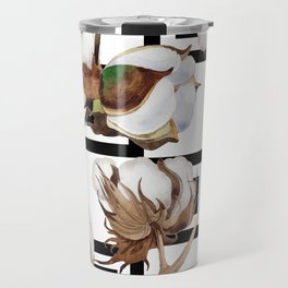 Cotton Flower Pattern 05 Travel Mug