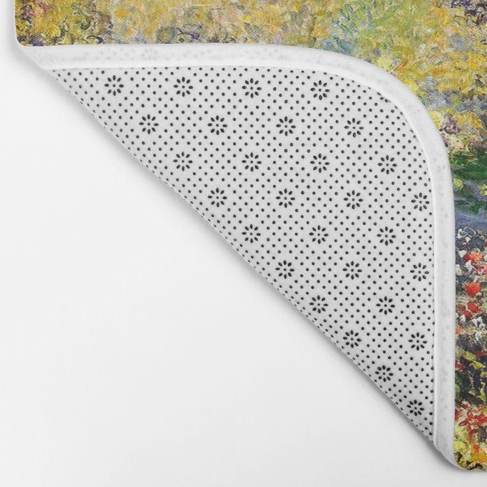 Claude Monet : A Corner of the Garden at Montgeron Bath Mat