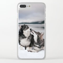 Brotherly Love Clear iPhone Case