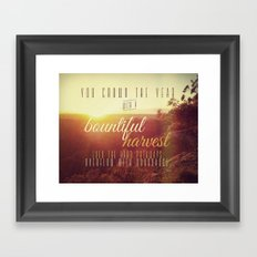 Crown the Year Framed Art Print