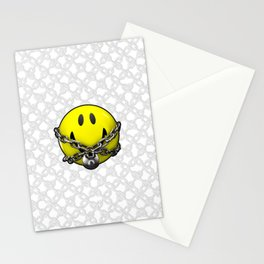 Quit Your Grinning / 3D chained up smiley Stationery Cards