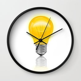 Light Bulb Realistic Wall Clock
