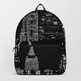 Contemporary Elegant Silver City Skyline Design Backpack