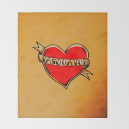 My Heart Belongs to Sasquatch Throw Blanket