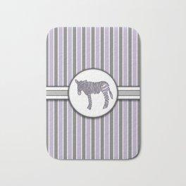 Purple Zebra Stripes Pattern Design Bath Mat