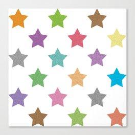 Colorful stars pattern Canvas Print