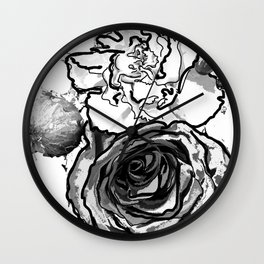Partial Bouquet Wall Clock