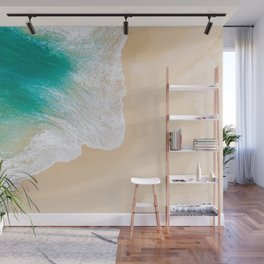 Sand Beach - Waves - Drone View Photography Wall Mural