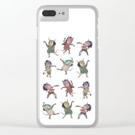 Little Monster Mashers Clear iPhone Case