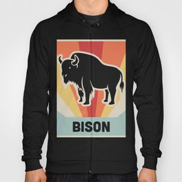 BISON - Vintage 70s Style Poster Hoody
