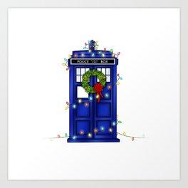 Christmas Phone Box Art Print