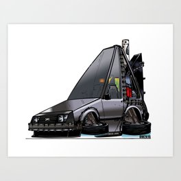 Back To The Future Part 2 - DeLorean Time Machine Art Print