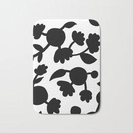 Bold floral pattern White Bath Mat