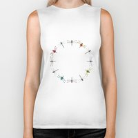 circle Biker Tanks featuring Circle by Okti