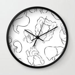 Guts - No text Wall Clock