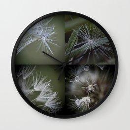 Dandelion Puff Water Macro Composite Wall Clock