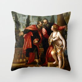"Veronese (Paolo Caliari) ""Susanna and the Elders"" Throw Pillow"