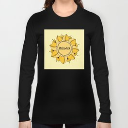 Relax Nouveau Golden Sun Mandala Long Sleeve T-shirt