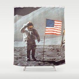 American Moon Landing Shower Curtain