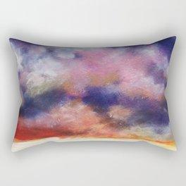 Black Scape Rectangular Pillow