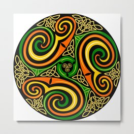 celtic celts circle color colors Metal Print
