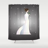 princess leia Shower Curtains featuring Aries - Princess Leia by AmadeuxArt