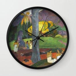 Mata Mua by Paul Gauguin Wall Clock