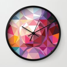 Geodesic dome pattern Wall Clock
