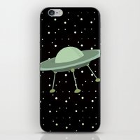 ufo iPhone & iPod Skins featuring UFO by Mr and Mrs Quirynen